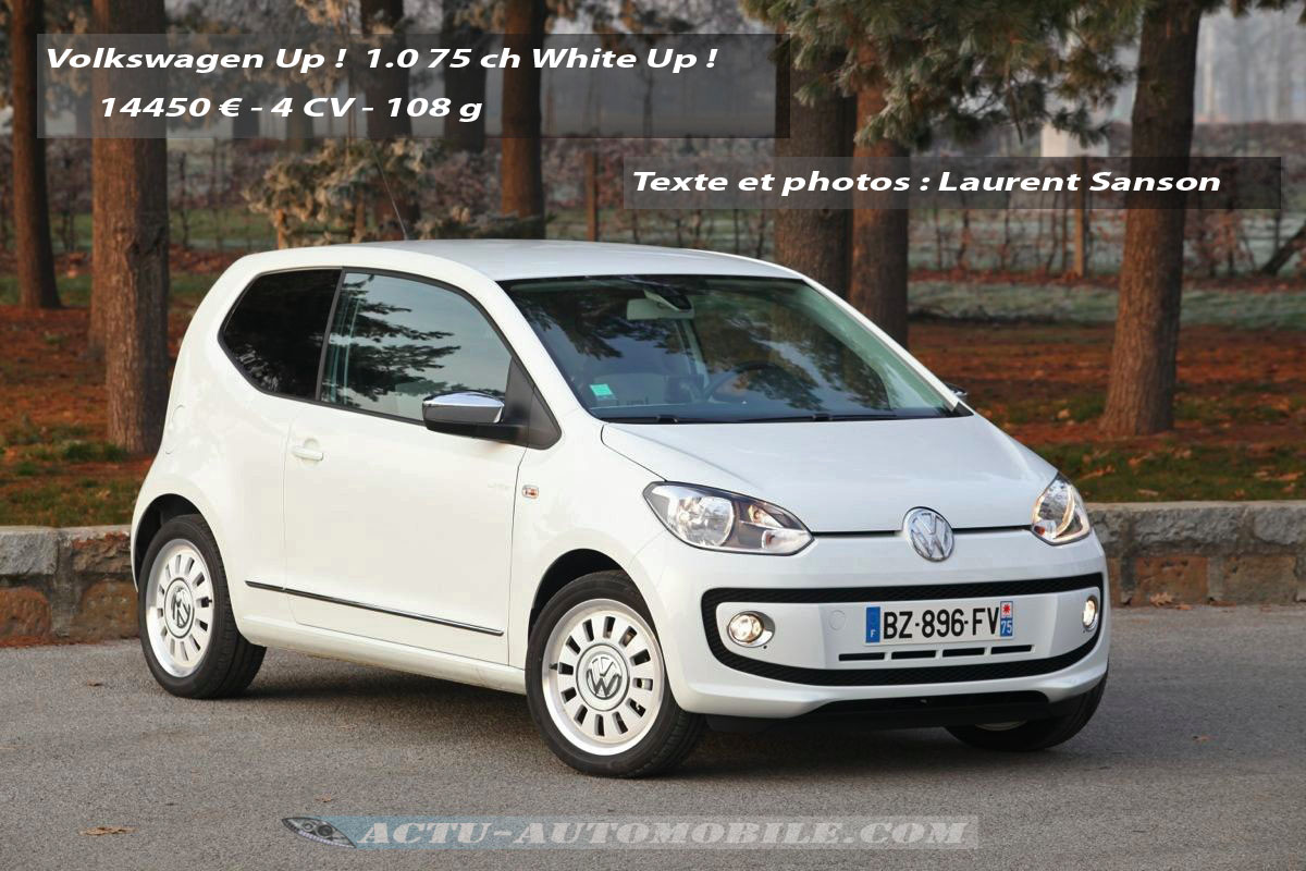 essai volkswagen up 1 0 75 ch white up conclusion photos actu automobile. Black Bedroom Furniture Sets. Home Design Ideas