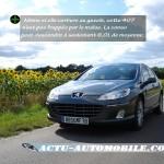 La consommation de la Peugeot 407