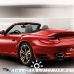 911 turbo cabriolet vue arrière