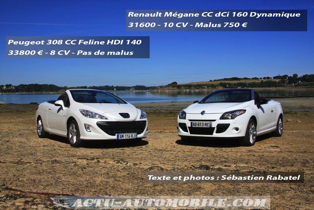 Match 308 CC Mégane CC