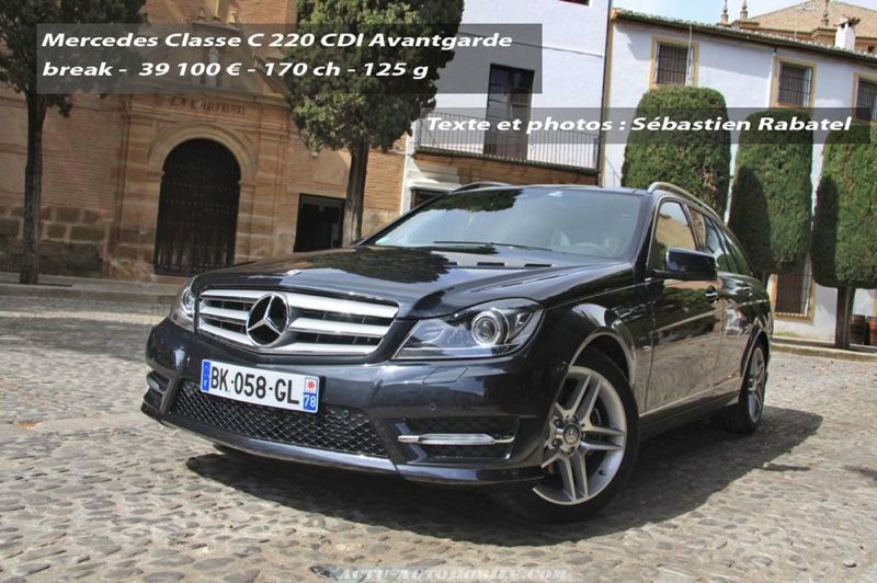 essai mercedes classe c restyl e 220 cdi 250 cdi actu automobile. Black Bedroom Furniture Sets. Home Design Ideas