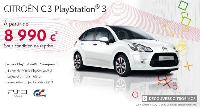 8990 euros pour la citro n c3 playstation 3 actu automobile. Black Bedroom Furniture Sets. Home Design Ideas
