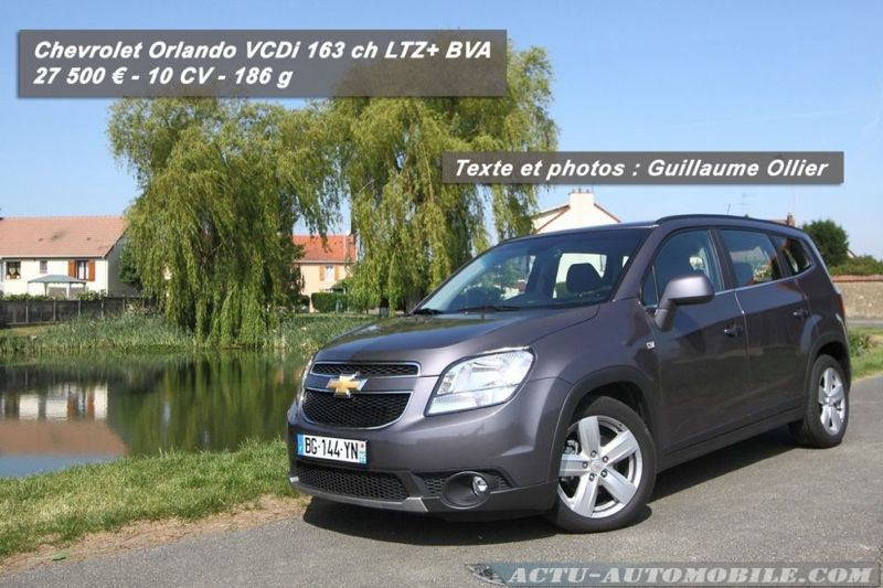 essai chevrolet orlando 2 0 vcdi 163 bva ltz actu automobile. Black Bedroom Furniture Sets. Home Design Ideas