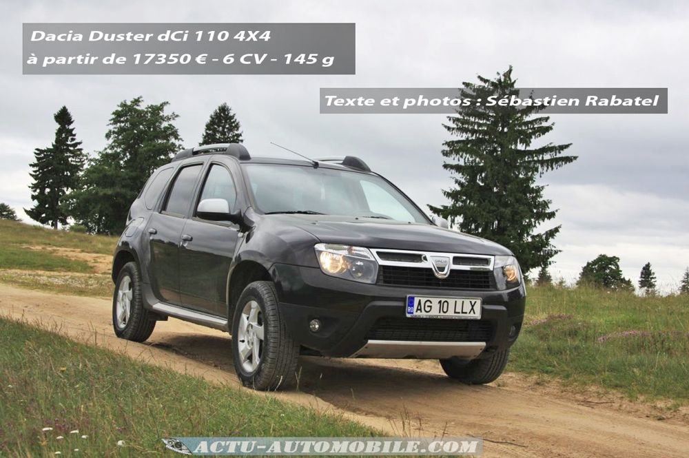 essai 4x4 le dacia duster l 39 assaut des carpates actu automobile. Black Bedroom Furniture Sets. Home Design Ideas