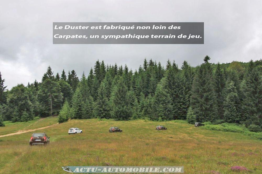 Dacia Duster dans les Carpates