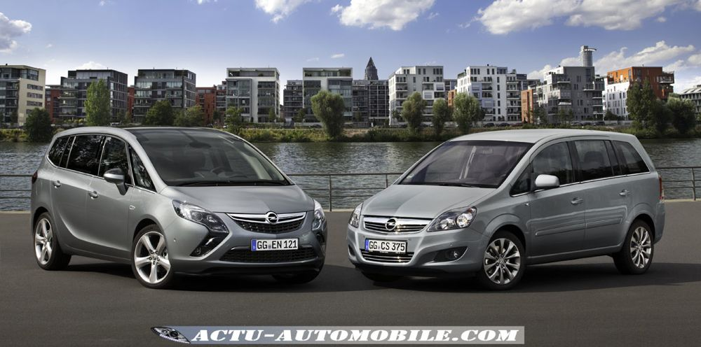 deux zafira dans la gamme opel actu automobile. Black Bedroom Furniture Sets. Home Design Ideas
