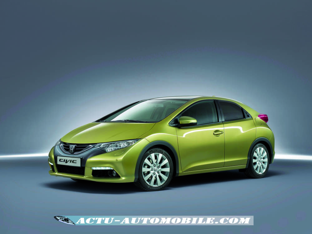 nouvelle honda civic 2012 les photos officielles enfin actu automobile. Black Bedroom Furniture Sets. Home Design Ideas