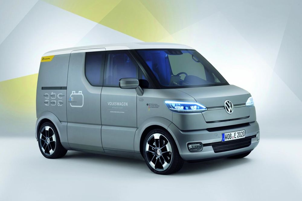 volkswagen et la fourgonnette lectrique du futur actu automobile. Black Bedroom Furniture Sets. Home Design Ideas