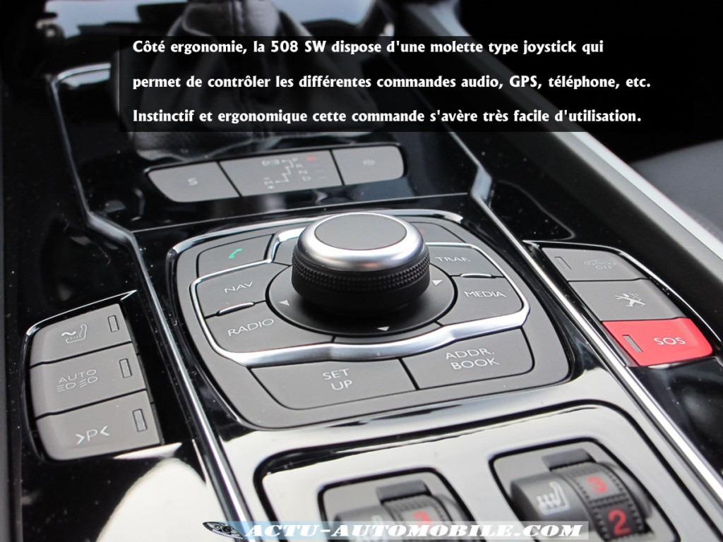 Essai peugeot 508 f line sw thp 156 actu automobile for Interieur 508 gt