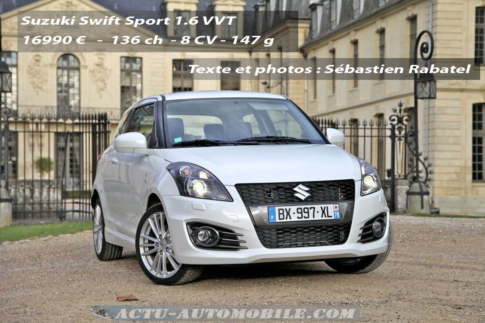 essai suzuki swift sport 2012 1 6 vvt actu automobile. Black Bedroom Furniture Sets. Home Design Ideas