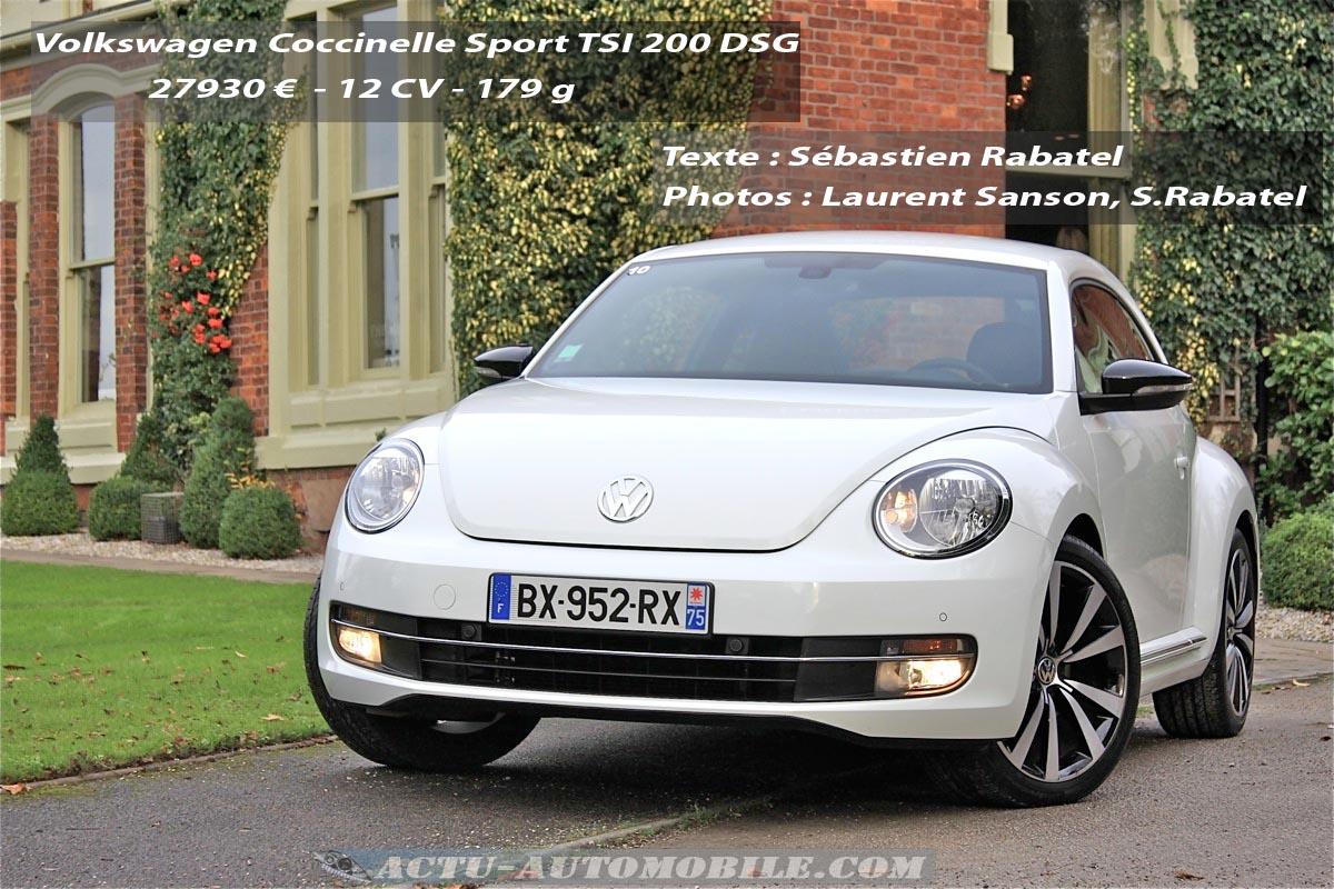 Volkswagen Coccinelle Sport 2.0 TSI 200
