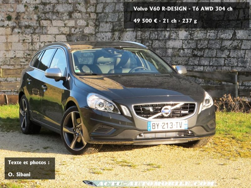 essai volvo v60 t6 awd r design break grande vitesse actu automobile. Black Bedroom Furniture Sets. Home Design Ideas