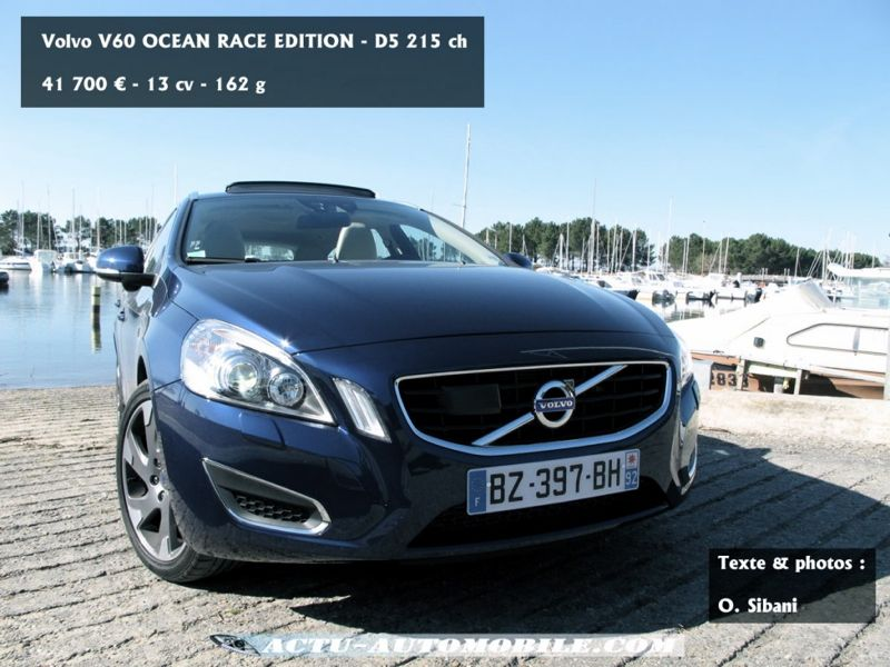 essai volvo v60 d5 215 geartronic ocean race le break. Black Bedroom Furniture Sets. Home Design Ideas