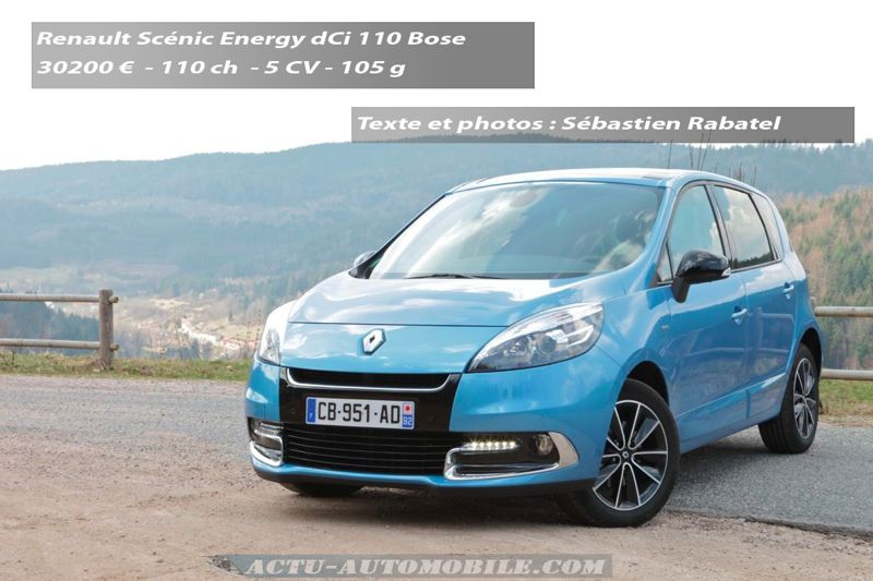 essai renault sc nic 2012 bose energy dci 110 actu automobile. Black Bedroom Furniture Sets. Home Design Ideas