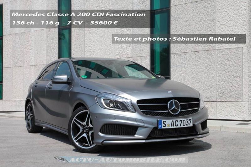essai nouvelle mercedes classe a 200 cdi 250 sport actu automobile. Black Bedroom Furniture Sets. Home Design Ideas