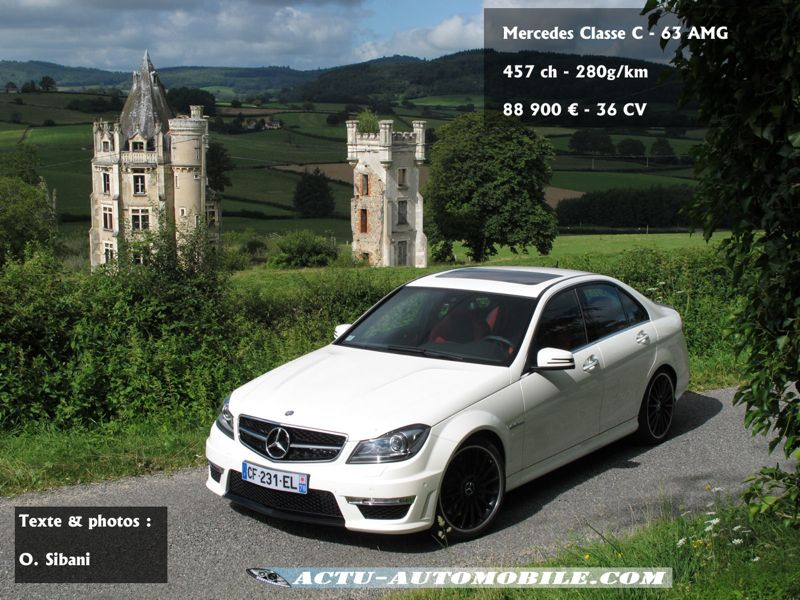 essai mercedes classe c 63 amg safety car actu automobile. Black Bedroom Furniture Sets. Home Design Ideas
