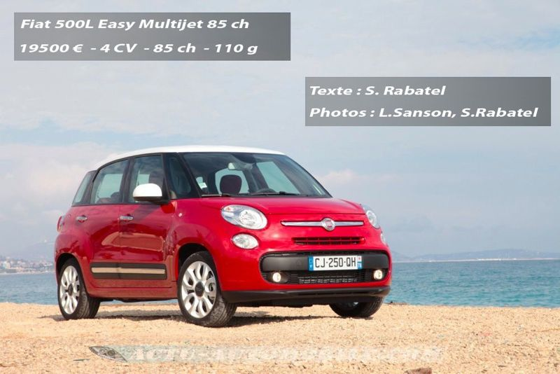 essai fiat 500l easy 1 3 diesel multijet 85 ch actu automobile. Black Bedroom Furniture Sets. Home Design Ideas