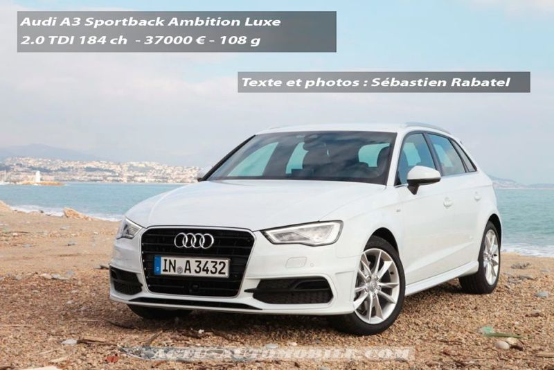 essai audi a3 sportback 2 0 tdi 184 ambition luxe actu automobile. Black Bedroom Furniture Sets. Home Design Ideas