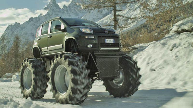 la fiat panda 4x4 devient un monster truck. Black Bedroom Furniture Sets. Home Design Ideas