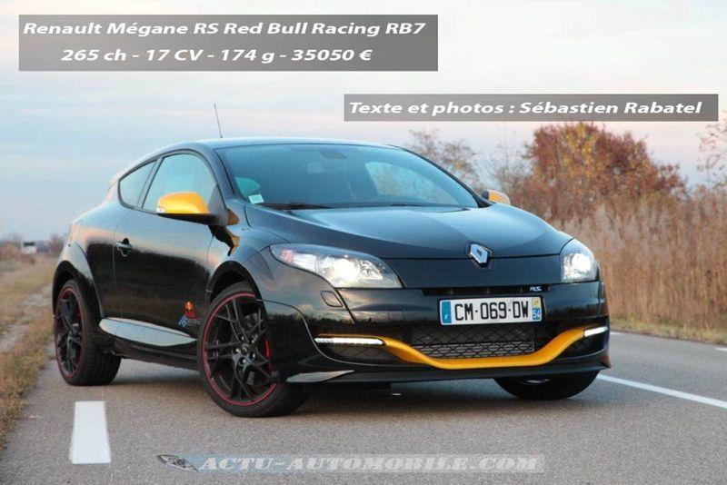 Renault Mégane RS Red Bull Racing RB7