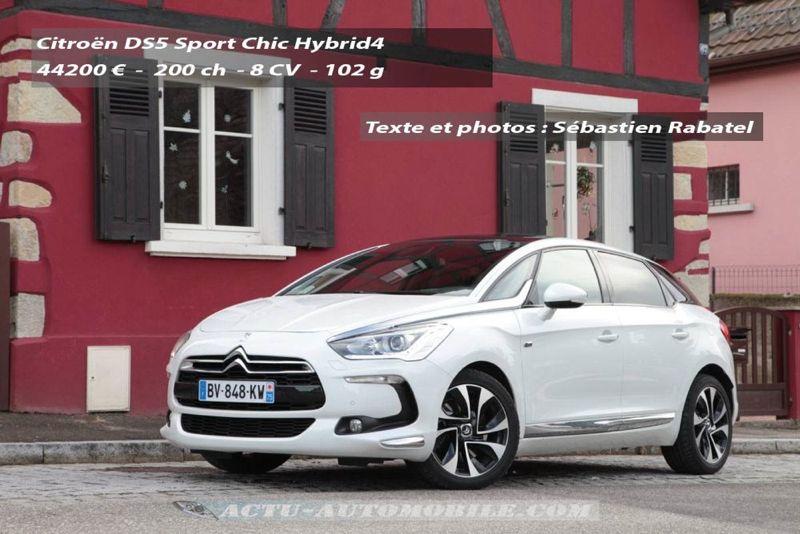 Essai Citroën DS5 Hybrid4