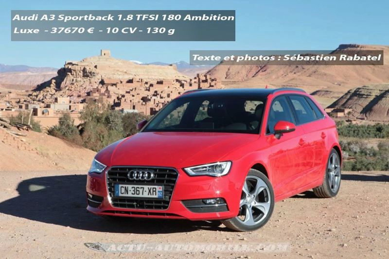 essai audi a3 sportback tfsi 180 s tronic l 39 anti tdi. Black Bedroom Furniture Sets. Home Design Ideas