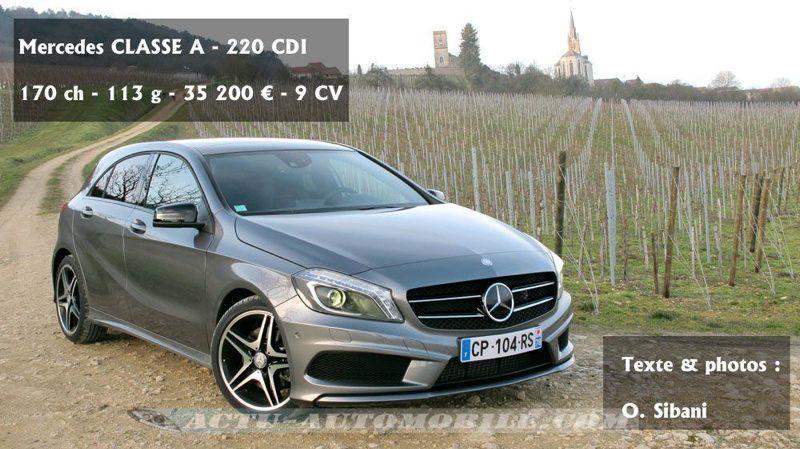 Essai Mercedes Classe A 220 Cdi Fascination Actu Automobile