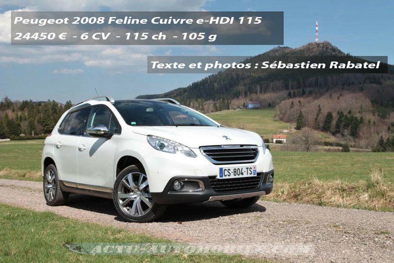 Essai Volvo Xc60 >> Essai Peugeot 2008 Feline Cuivre 1.6 e-HDI 115 : le ...