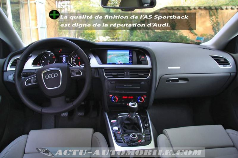 essai audi a5 sportback 2 7 tdi 190 ambition luxe actu automobile. Black Bedroom Furniture Sets. Home Design Ideas