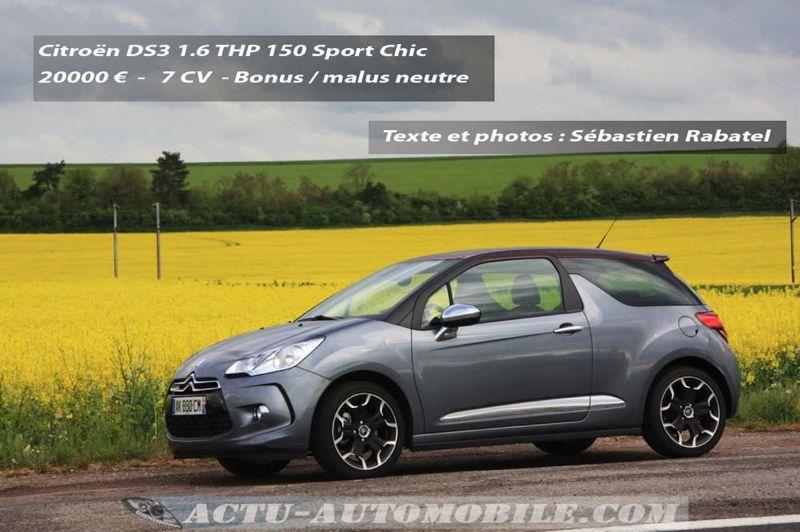 Essai Citroën DS3 THP 150