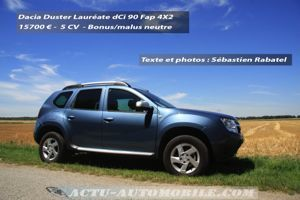 essai dacia duster 1 5 dci 90 fap laur ate actu automobile. Black Bedroom Furniture Sets. Home Design Ideas