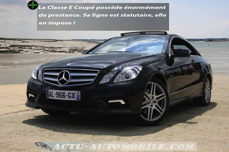 essai mercedes classe e coup 350 cdi haut standing actu automobile. Black Bedroom Furniture Sets. Home Design Ideas