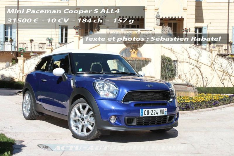 essai mini paceman cooper s all4 le croisement. Black Bedroom Furniture Sets. Home Design Ideas