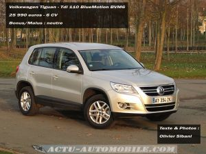 essai volkswagen tiguan tdi 110 bluemotion actu automobile. Black Bedroom Furniture Sets. Home Design Ideas