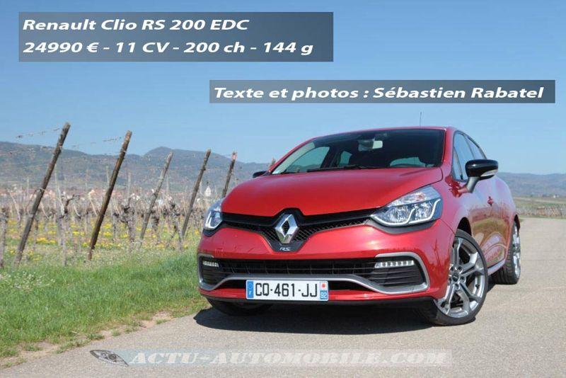 Nouvelle Clio RS 200 EDC 2012
