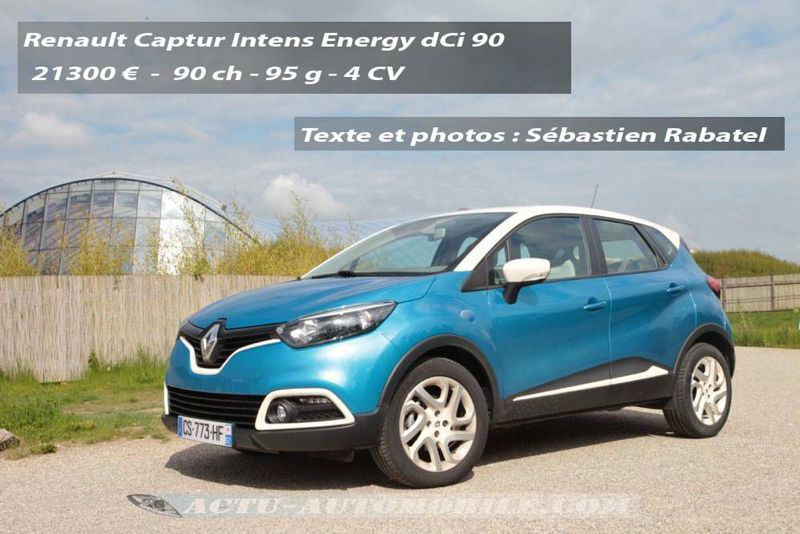 essai renault captur energy dci 90 intens actu automobile. Black Bedroom Furniture Sets. Home Design Ideas