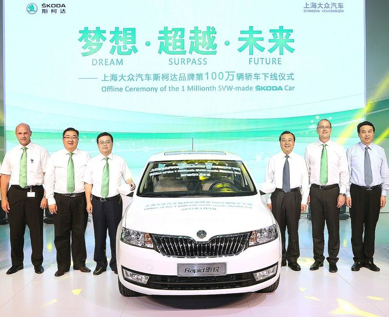 Un million de Skoda produites en Chine