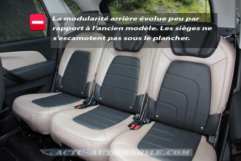 Sièges arrière nouveau Citroën C4 Pïcasso