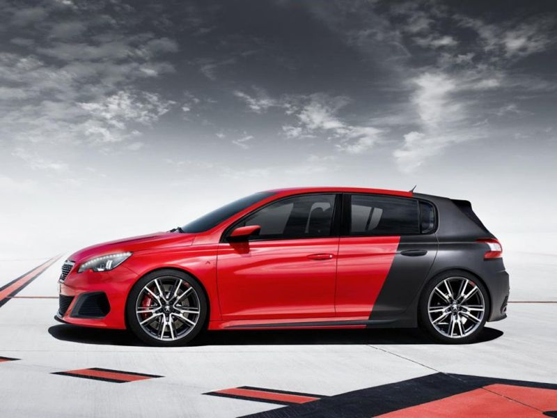 peugeot 308 r concept en rouge et noir. Black Bedroom Furniture Sets. Home Design Ideas