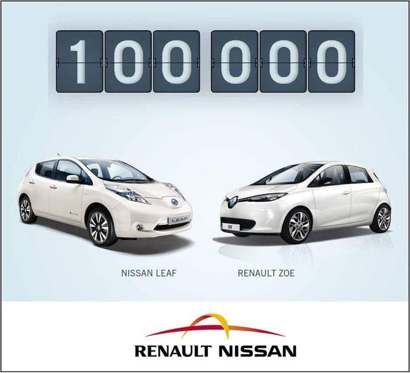 100.000 voitures Renault Nissan vendues