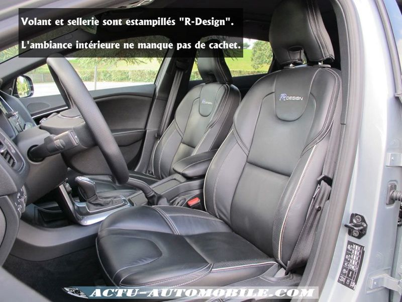 essai volvo v40 r design d3 geartronic haute couture actu automobile. Black Bedroom Furniture Sets. Home Design Ideas