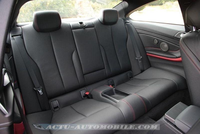 Places arrière nouvelle BMW Série 4 Coupé