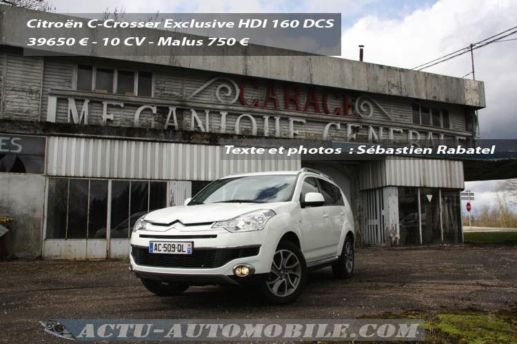 Essai Citroën C-Crosser DCS Exclusive