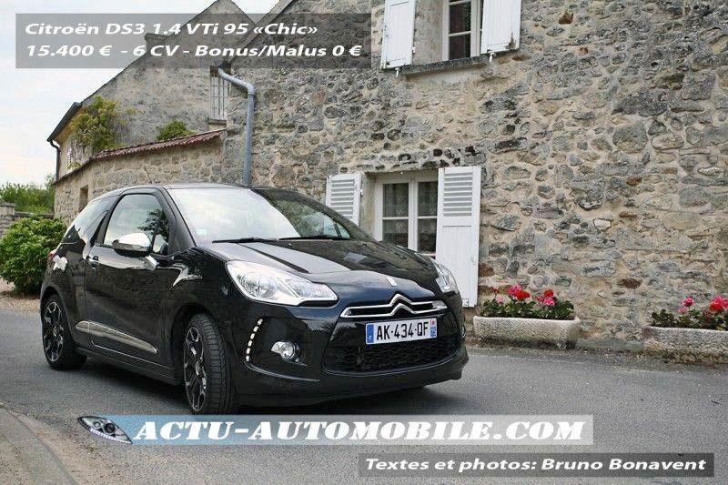 Essai Citroën DS3 VTI 95