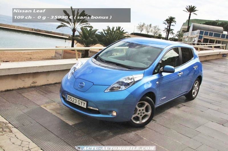 essai nissan leaf no stress actu automobile. Black Bedroom Furniture Sets. Home Design Ideas