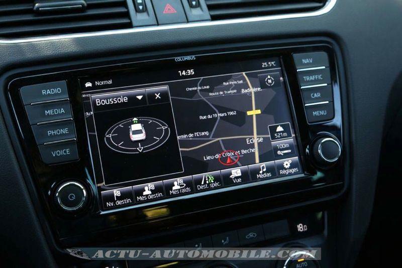 GPS nouvelle Skoda Octavia RS
