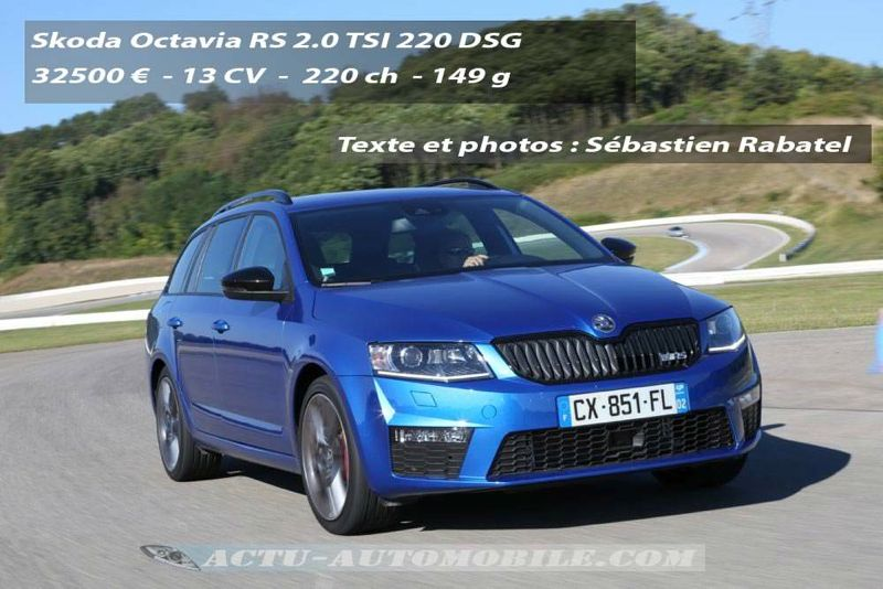 essai skoda octavia rs 2 0 tsi 220 2 0 tdi 184 actu automobile. Black Bedroom Furniture Sets. Home Design Ideas