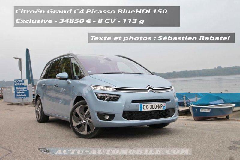 Nouveau Citroën Grand C4 Picasso BlueHDI 150