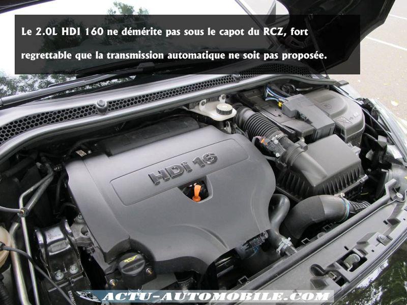 Moteur HDI 160 RCZ