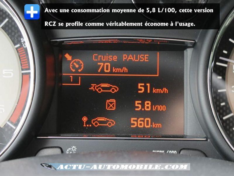 Consommation Peugeot RCZ HDI 160